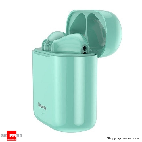 Baseus W09 TWS Wireless Bluetooth Earphone Intelligent Touch Control Wireless TWS Earphones With Stereo bass sound Green Colour