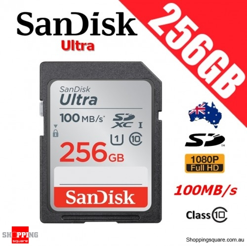 SanDisk Ultra 256GB SD SDXC UHS-I Class 10 Memory Card 100MB/s