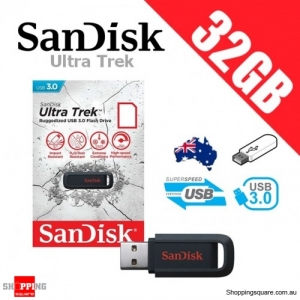 SanDisk Ultra Trek 32GB USB 3.0 Flash Drive Memory Black