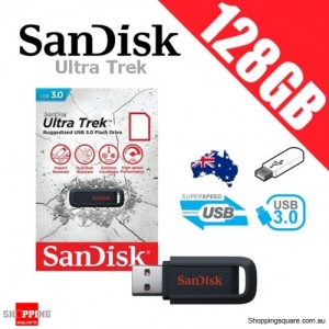 SanDisk Ultra Trek 128GB USB 3.0 Flash Drive Memory Black