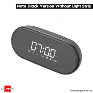Baseus Night light Bluetooth Speaker With Alarm Clock Function ,Portable Wireless Loudspeaker Sound System Black Colour