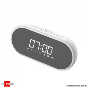 Baseus Night light Bluetooth Speaker With Alarm Clock Function ,Portable Wireless Loudspeaker Sound System White Colour