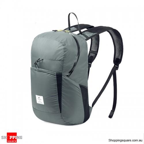 25L Folding Backpack Ultralight Waterproof Foldable Outdoor Sports Travel Bag - Gray