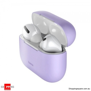 Baseus Silicone Case For Airpods Pro Wireless Bluetooth Earphone Case Purple Colour