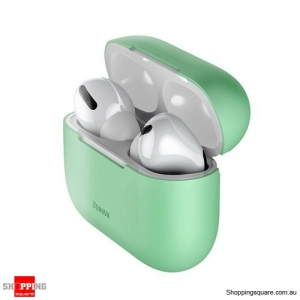 Baseus Silicone Case For Airpods Pro Wireless Bluetooth Earphone Case Green Colour