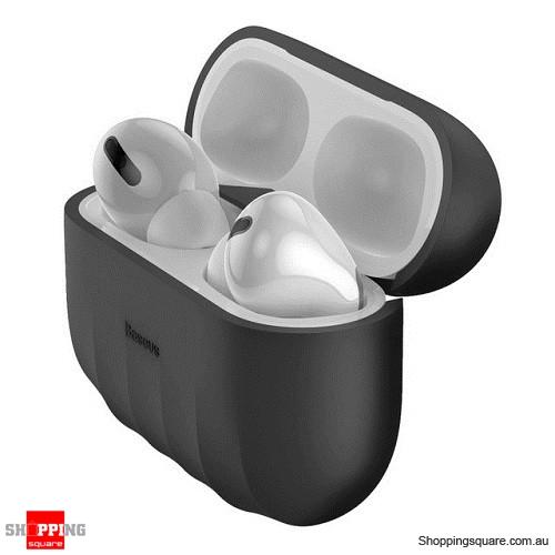 Baseus Non-slip Case For Airpods Pro Case Silicone Wireless Bluetooth Headphone Case Cover Black Colour