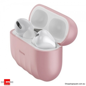 Baseus Non-slip Case For Airpods Pro Case Silicone Wireless Bluetooth Headphone Case Cover Pink Colour