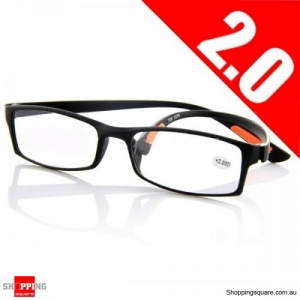 Black 2.0 Light Weight Resin Fatigue Relieve Reading Glasses Strength - 2.0