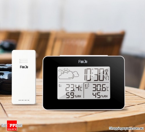 Digital Alarm Clock Weather Station Hygrometer Thermometer LED Clock With Wireless Sensor