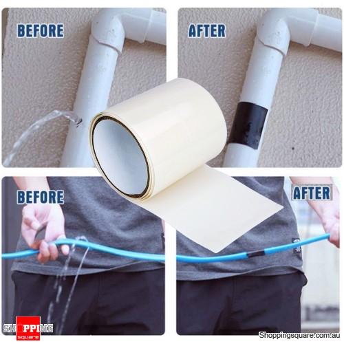 1.5M PVC Super Strong Waterproof Adhesive Tape Fix Pipe Repair Tape - White