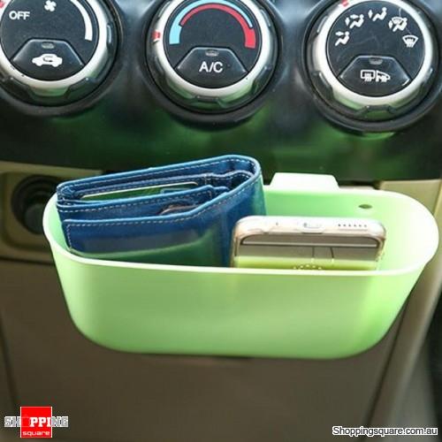 Portable Plastic Storage Car Seat Gap Pocket Phone Holder Organizer - Light Green