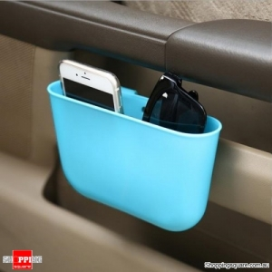 Portable Plastic Storage Car Seat Gap Pocket Phone Holder Organizer - Light Blue