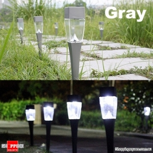 0.8W Solar Outdoor Garden LED Landscape Light Path Lawn Yard Lamp - Gray