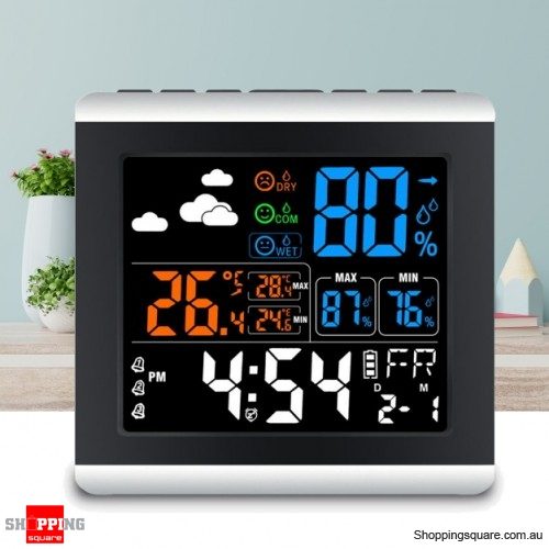 Loskii DC-005 Digital Wireless Colorful Screen Clock Weather Station Thermometer Hygrometer