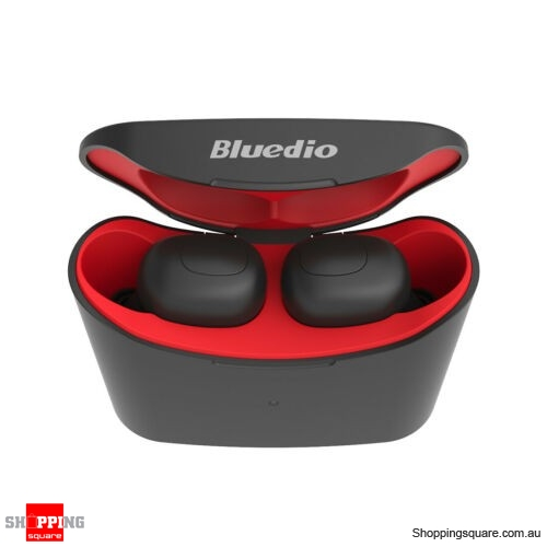 Bluedio T-elf Air pod Mini Bluetooth 5.0 Sports Headset Wireless Earphones - Red