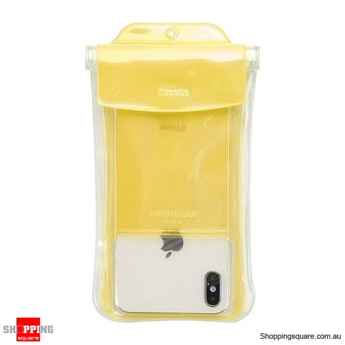 Baseus IP68 Waterproof Case For iPhone X XR XS MAX 8 7 Huawei P30 Samsung S10 Phone Pouch Bag Airbag Swimming Case Cover Yellow