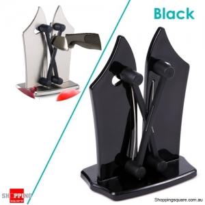 Kitchen Sharpen Stone Sharpener Polishes Serrated Beveled And Standard Blades - Black