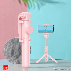 Baseus Wireless Bluetooth Selfie Stick for iPhone/Android Foldable Handheld Monopod Shutter Remote Extendable Mini Tripod Pink