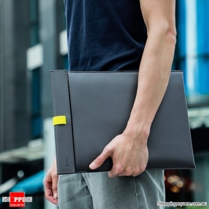 Baseus Laptop Sleeve Bag Case for Macbook Air Pro 13 14 15 16 Super Thin Double-layer Computer Liner Bag for Dell Lenovo Grey