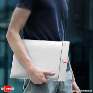 Baseus Laptop Sleeve Bag Case for Macbook Air Pro 13 14 15 16 Super Thin Double-layer Computer Liner Bag for Dell Lenovo White