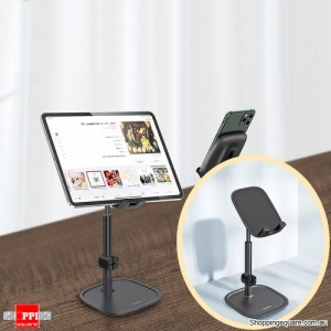 Baseus Telescopic Desktop Phone Holder For Tablet Pad Desktop Cell Phone Table Holder Mobile Phone Stand Mount - Black