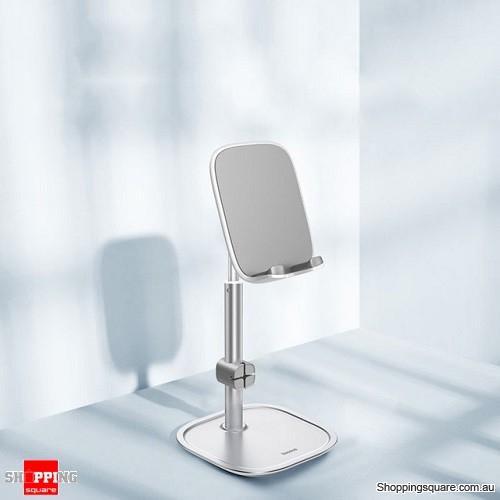 Baseus Telescopic Desktop Phone Holder For Tablet Pad Desktop Cell Phone Table Holder Mobile Phone Stand Mount - Silver
