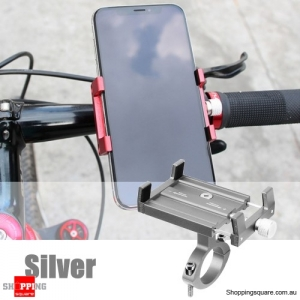 Adjustable Aluminum Phone GPS Holder Mount - Silver