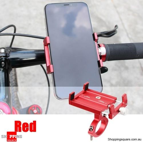 Adjustable Aluminum Phone GPS Holder Mount - Red