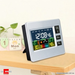 Digital LCD Temperature Hygrometer Alarm Clock Calendar Snooze With Backlit Function