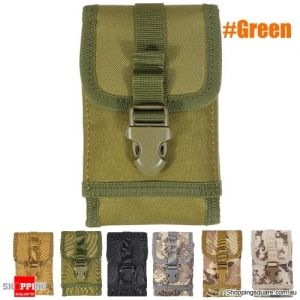 Military Tactical Cell Phone Bag Waist Pack Camping Hike Pouch Belt Case - Green