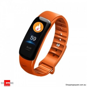 0.96'' IPS Color Screen IP68 Waterproof Smart Watch - Orange