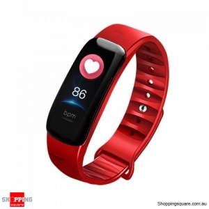 0.96'' IPS Color Screen IP68 Waterproof Smart Watch - Red