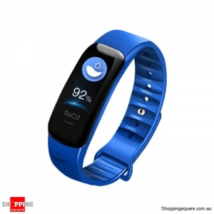 0.96'' IPS Color Screen IP68 Waterproof Smart Watch - Blue