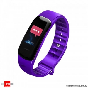 0.96'' IPS Color Screen IP68 Waterproof Smart Watch - Purple