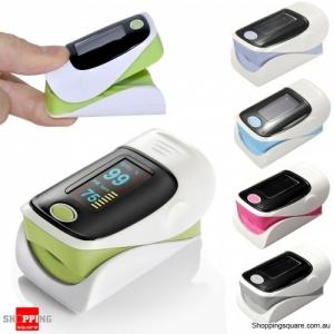 OLED Finger Pulse Oximeter SPO2 Blood Oxygen Monitor Fingertip Heart Rate - Green