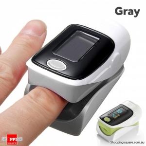 OLED Finger Pulse Oximeter SPO2 Blood Oxygen Monitor Fingertip Heart Rate - Gray