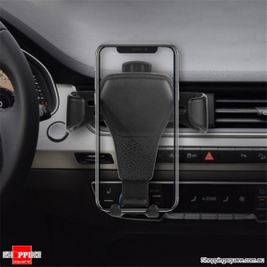 Universal Gravity Auto Lock Car Mount Air Vent Holder Stand - Black