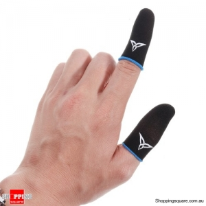 Gloves Carbon Fiber Finger Sleeves for iOS Android Mobile Phone for PUBG Game - Blue