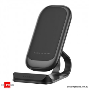 Fast Charging Qi Wireless Charger Dock Station Phone Holder - Black