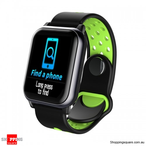 1.3inch Large View Display Music Control Smart Watch - Black Green