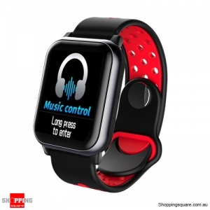 1.3inch Large View Display Music Control Smart Watch - Red