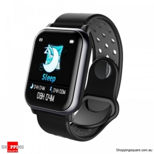 1.3inch Large View Display Music Control Smart Watch - Black Gray