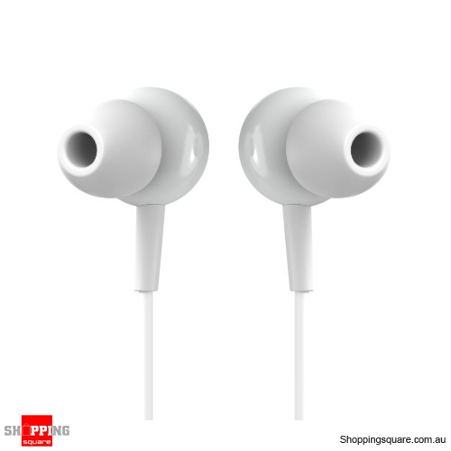 Lightweight In-ear Earphone 3.5mm Wired Earbuds Music Headphone with Mic - White