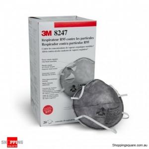 3M Particulate Respirator 8247 R95 PARTICULATE NUISANCEOV RESP, 20pcs box