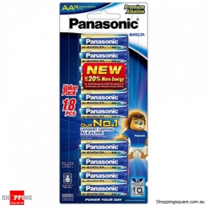 Panasonic AA 18PK of EVOLTA Premium Alkaline Batteries