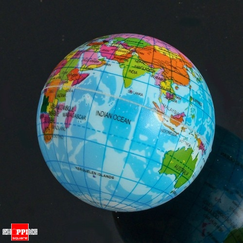 Earth 75cm foam bouncy world geography map globe model for stress description gumiabroncs
