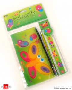 Butterfly Stationery Combo Set