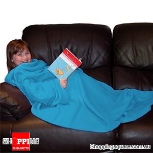 My Kids Cuddlee Blanket with Sleeves Blue