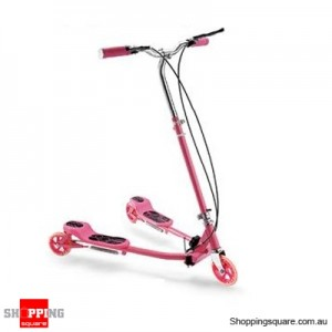Foldable Swing Scooter (Frog Kick)Pink