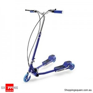 Foldable Swing Scooter (Frog Kick) Blue